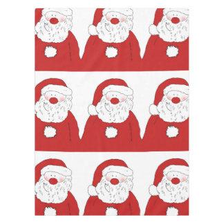 Cute Blushing Santa Tablecloth