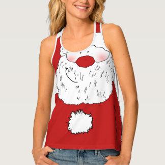 Cute Blushing Santa Tank Top