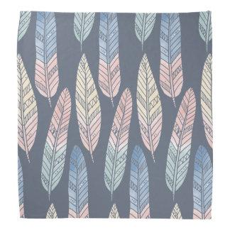Cute boho pattern pastel colored feathers artsy kerchiefs