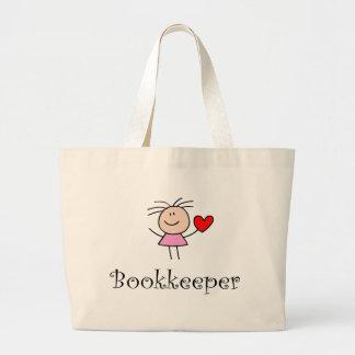 Cute Bookkeeper Tote Bag
