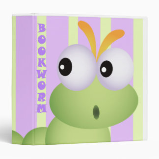 Cute BookWorm Notebook Binder