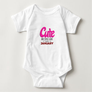 Cute Born In January Babies Birthday Baby Bodysuit