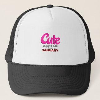 Cute Born In January Babies Birthday Trucker Hat