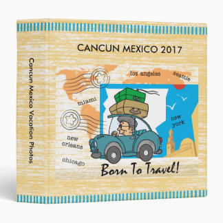 Cute Born To Travel Vacation Photo Binder Album