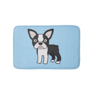 Cute Boston Terrier Bathroom Mat