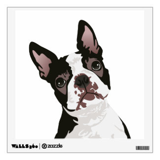 Cute Boston Terrier Dog for Boston Terrier Owner Wall Decal