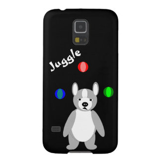 Cute Boston Terrier Juggling puppy Galaxy S5 Covers