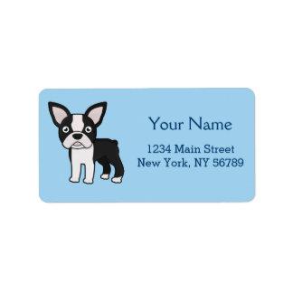 Cute Boston Terrier Label