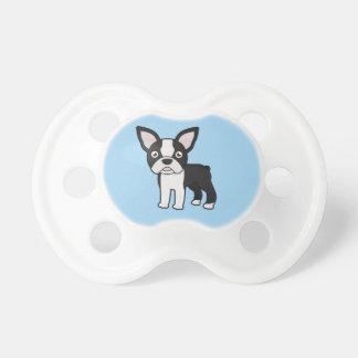 Cute Boston Terrier Pacifier