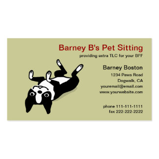 Cute Boston Terrier - Pet Care Pack Of Standard Business Cards