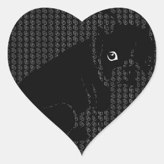 Cute Boston Terrier puppy Heart Sticker