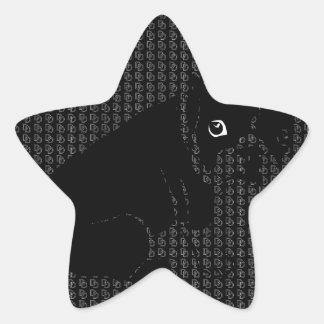Cute Boston Terrier puppy Star Sticker