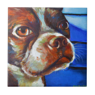 Cute Boston Terrier Tile
