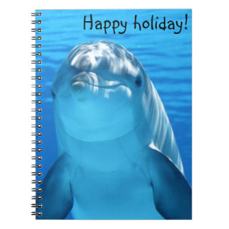 Cute Bottlenose Dolphin underwater Notebook