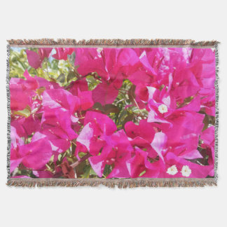Cute  Bougainvillea Hybrid Pink Throw Blanket