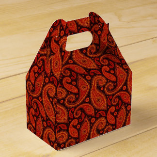 Cute bown swirl paisley patterns favor box