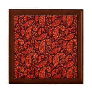 Cute bown swirl paisley patterns gift box
