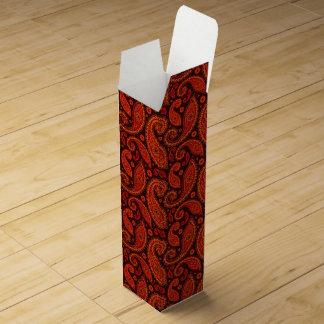 Cute bown swirl paisley patterns wine boxes