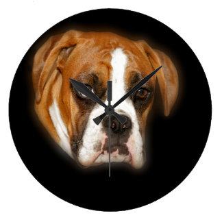 Cute Boxer Dog Portrait Wall Clock
