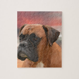 Cute Boxer Dog Water Color Oil Painting Art Jigsaw Puzzle