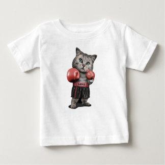 Cute Boxing Cat (or Kitten) Baby T-Shirt