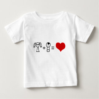 Cute boy and girl love doodle baby shirt