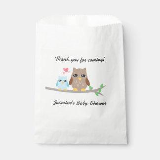 Cute Boy Baby Shower Owl Favour Bag
