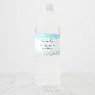 Cute Boy Bears Baby Shower Water Bottle Label