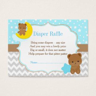 Cute Boy Bears Diaper Raffle Business Card