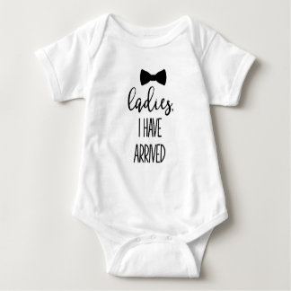 Cute Boy Quote Arrival One Piece Baby Bodysuit