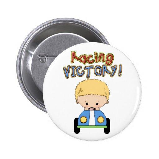 Cute Boy & Race Car Button