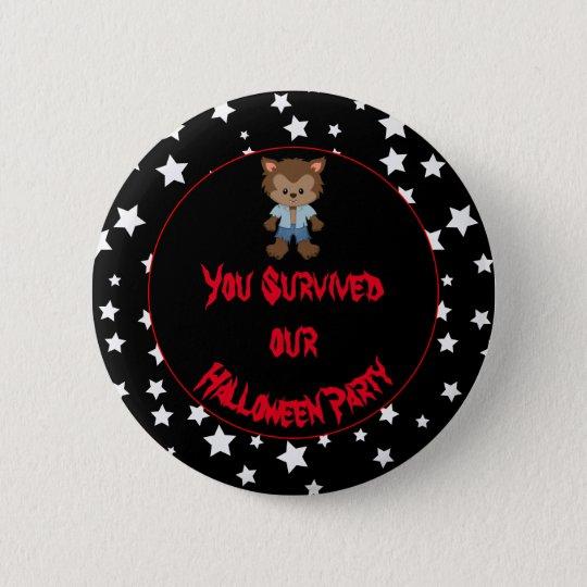 Cute Boy Werewolf Halloween Party 2 Inch Round Button