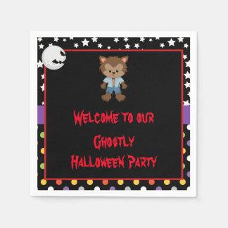 Cute Boy Werewolf Halloween Party Disposable Napkins