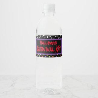 Cute Boy Werewolf Halloween Party Water Bottle Label