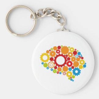 cute brain keychain