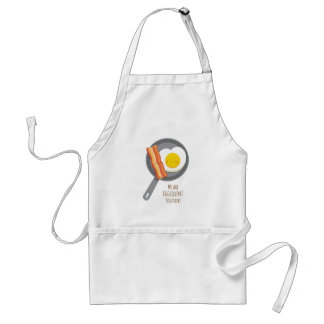 Cute Breakfast Bacon and Egg in Love Apron