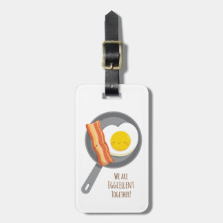 Cute Breakfast Bacon and Egg Luggage Tag