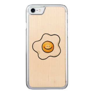 cute breakfast egg cartoon carved iPhone 8/7 case