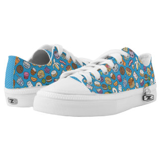 Cute Breakfast Food low top sneakers