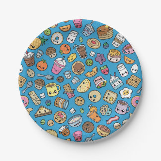 Cute Breakfast Food paper plates