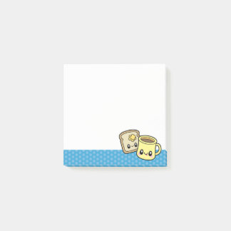 Cute Breakfast Food square notepad