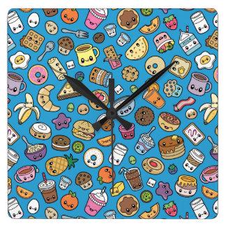 Cute Breakfast Food wall clock