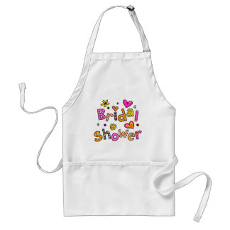 Cute Bridal Shower Greeting Text Expression Standard Apron