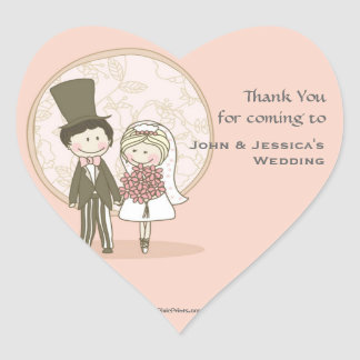 Cute Bride and Groom Sticker/Return Address Label