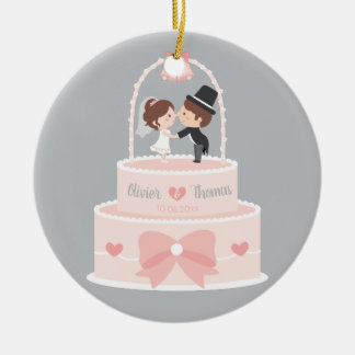 Cute Bride and Groom Topper Wedding Cake Ornament