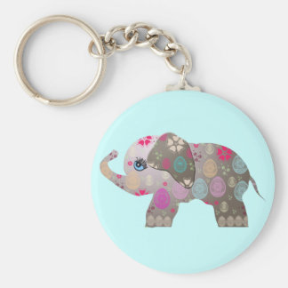 Cute bright elephant keychain