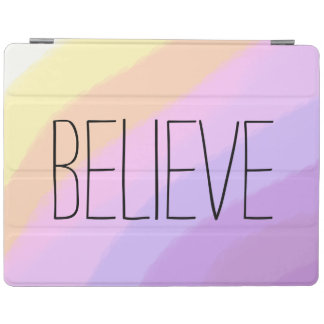 cute bright neon brushstrokes unicorn colors iPad cover