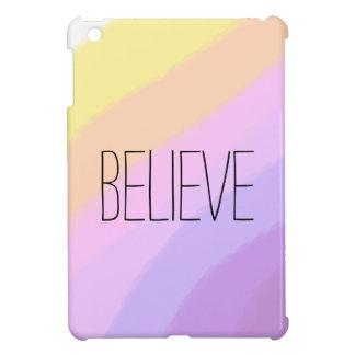 cute bright neon brushstrokes unicorn colors iPad mini cover