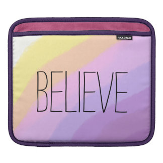 cute bright neon brushstrokes unicorn colors iPad sleeve