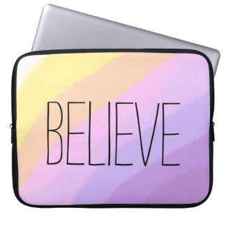 cute bright neon brushstrokes unicorn colors laptop sleeve